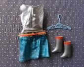 Vintage Barbie Zokko Dress, Boots and Hanger