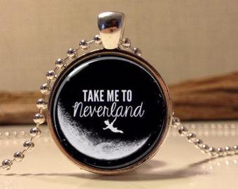 Peter Pan  Jewelry, Peter Pan Necklace Peter Pan art pendant jewelry. Take me to Neverland (peter pan #10)