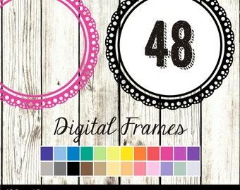 80% OFF SALE Digital Lace Frames, Digital Frames, Scrapbook Frames