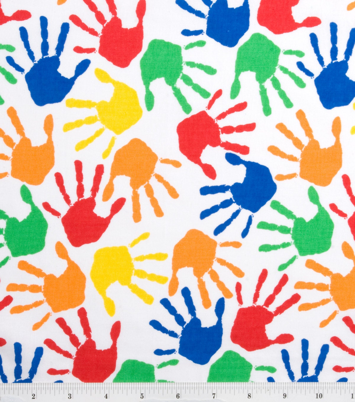 Quilting fabric hand prints fabric novelty fabric for Baby nursery fabric yard