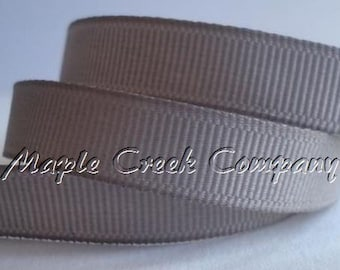 "5 yards Silver Gray Grosgrain Ribbon, 4 Widths Available: 1 1/2"", 7/8"", 5/8"", 3/8"""