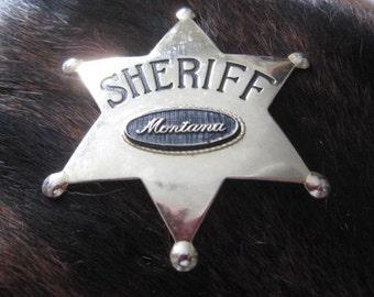 Vintage Toy Montana Sheriff Star Badge - Child's Montana Souvenir Toy