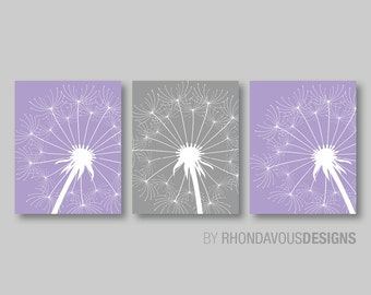 Dandelion Print - Dandelion Art - Nursery Art - Nursery Decor - Flower Art - Bedroom Art. Dandelion Wall Art. Dandelion Wall Decor. (NS-210)