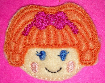 Set of 4 Doll Feltie Felt Embellishment Bow! Birthday Party Oversized Oversize Extra Large Lalaloopsy Felties Planner Clip Hair Bow