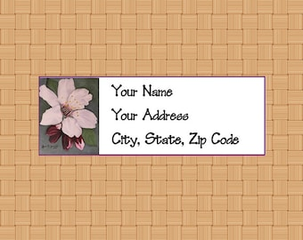 Address Labels Personalized Labels Return Labels Flower Labels Apple Blossom Flower