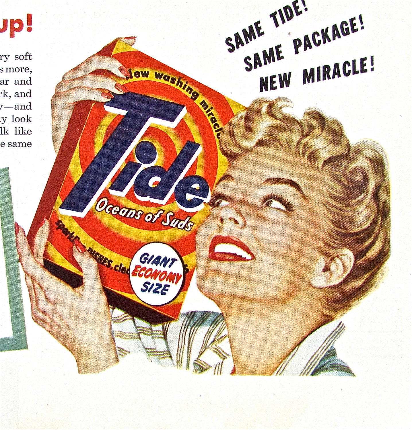 1950s Vintage Laundry Ad Tide Detergent furthermore South African Lobster Tail besides 1960s Makeup Ads moreover  on advers from the 1950s