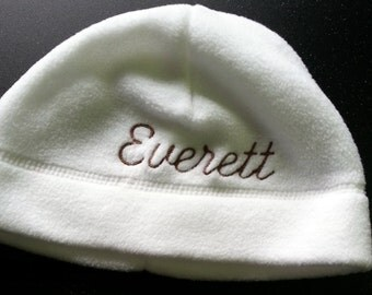 Personalized fleece hat for baby