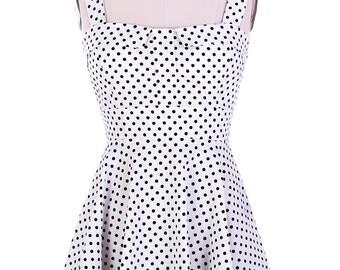Vintage 1950's Polka Dot Halter  Dress
