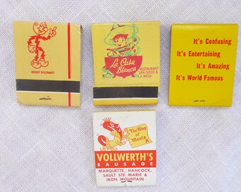 1950's-1960's Collectible Matchbooks