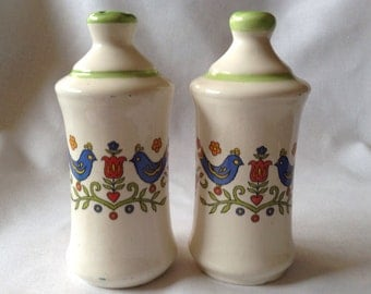 Adorable Vintage (1980's) Salt And Pepper Shakers, Ceramic, 5 Inches High