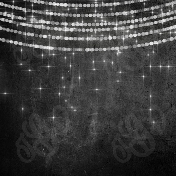String Lights Backdrop : Bokeh String Lights Rustic Wood & Chalkboard Digital Photography Backdrop - Bunting lights wood ...