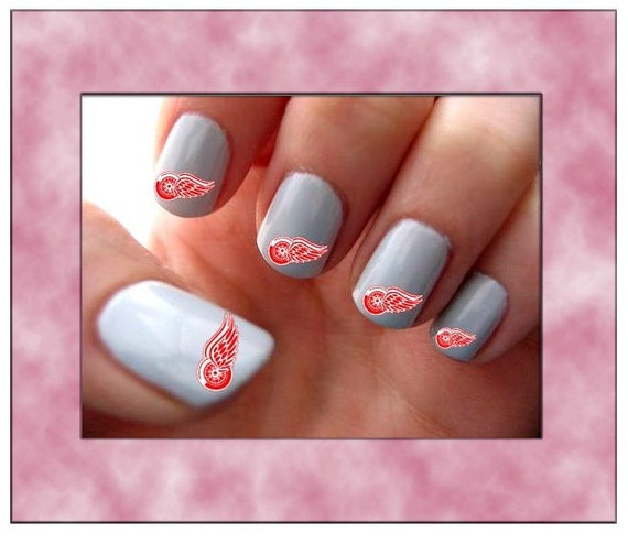 Red wings nail art choice image nail art and nail design ideas red wings nail art gallery nail art and nail design ideas detroit red wings nail art prinsesfo Choice Image