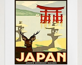 Japan Poster Japanese Wall Art Travel Print (TR56)