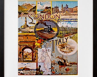 Travel Poster London Art Vintage Italy Print Home Decor (ZT125)