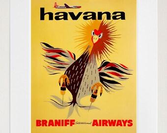 Havana Cuba Retro Poster Travel Art Home Decor Print (zt638)