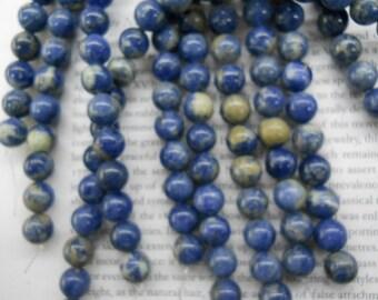 10mm sodalite round beads, 15.5 inch