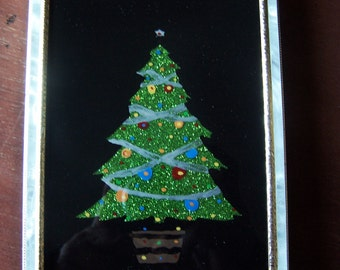 Christmas Tree Sparkly Glass Painting Painting On Glass