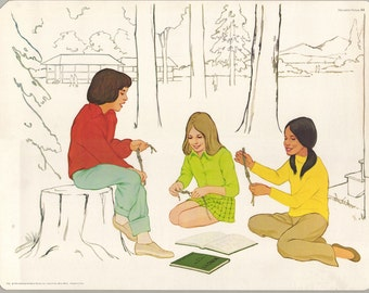 1974 Educational Illustrations - Tying Knots with the Girls