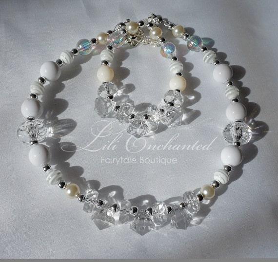 little girls jewelry necklace and bracelet set christmas. Black Bedroom Furniture Sets. Home Design Ideas