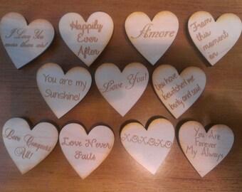 Wedding Favor, Heart Magnets -  Qty 100