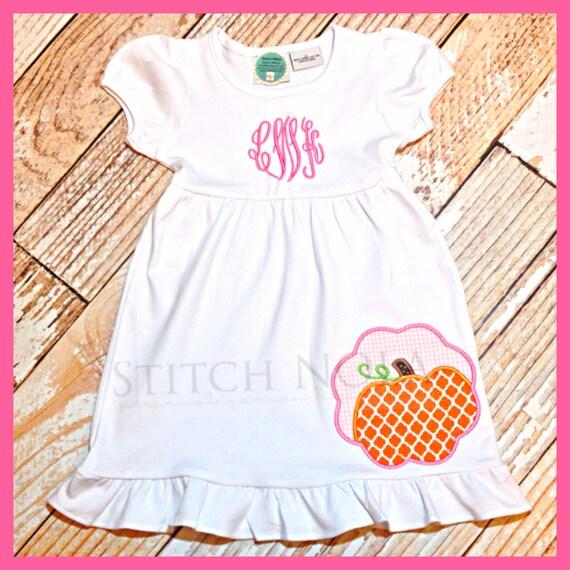 Monogrammed Pumpkin Dress