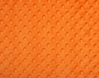 Orange Cuddle Minky Dot Fabric  (Shannon Fabrics)