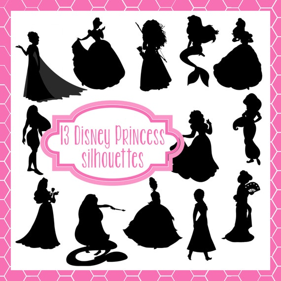 Printable Disney Silhouettes Disney Princess Silhouette Png