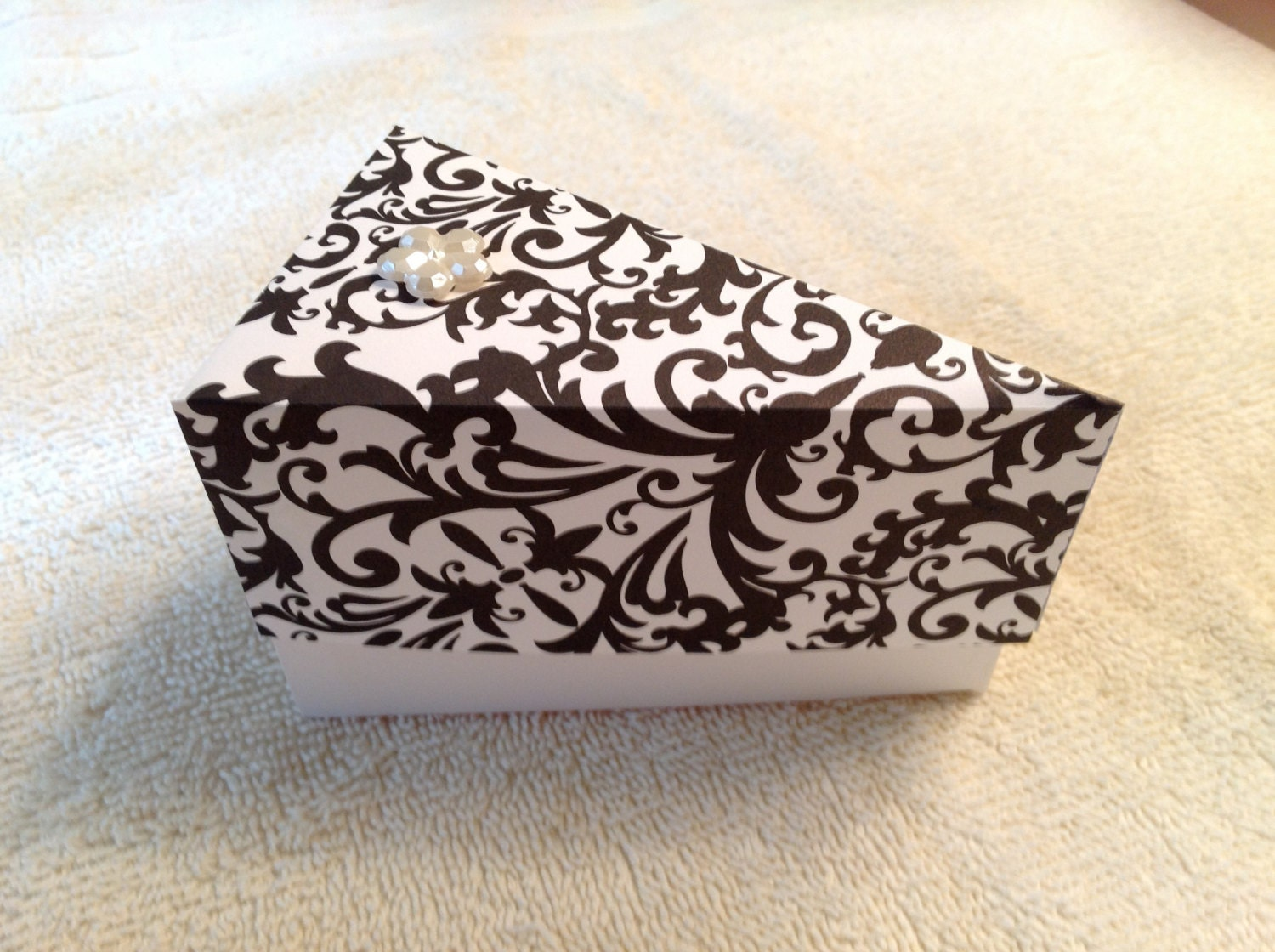 Etsy Cake Favor Boxes : Items similar to wedding favor cake slice boxes perfect
