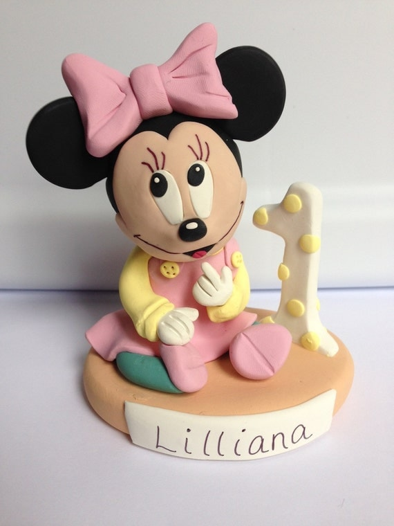 Baby Minnie Mouse Cake Topper Figurine