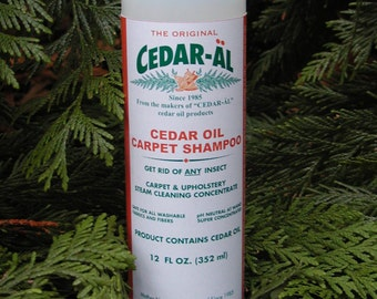 CEDAR-AL All Natural Cedar Oil Carpet Shampoo Steam Cleaning Concentrate    Stop the Infestation ! !