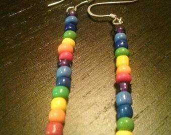 Simple rainbow earrings