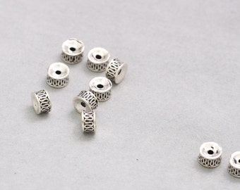 925 Sterling Silver Bead Thai Silver Interval Spacer Beads DIY Accessories Supply Wholesale Y390