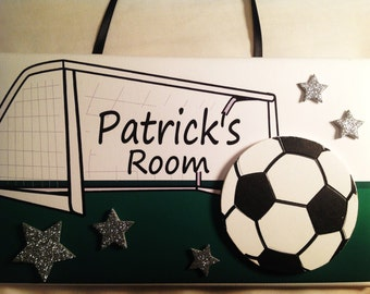 Soccer Sports Children's Bedroom Nursery DOOR SIGN