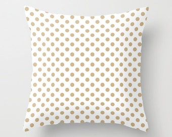 32 colors Organic Polka Dot Pillow Cover, sand neutral pillow, contemporary home decor, pastel dots pillow, organic pillow, cotton pillow