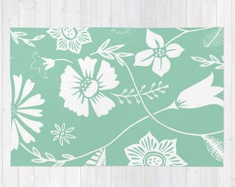 Popular Items For Mint Green Rug On Etsy