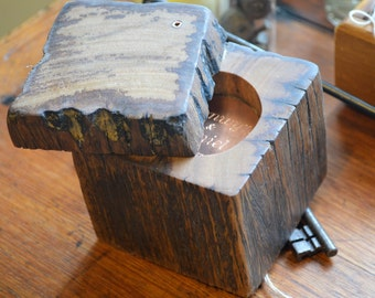 Wedding ring box. Ring holder. Ring box. Wedding ring holder. Proposal ring box. Beautiful reclaimed Australian Hardwood