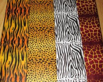 Safari Print Tissue Papers - Tiger, Zebra, Giraffe & Leopard