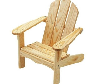 Kid's Adirondack Chair, Kid's Chair, Unfinished Outdoor Furniture Kit