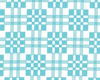 Moda Fabric from the Me and My Sister, Good Morning collection 22183-17, Nine Patch Tranquil turquoise
