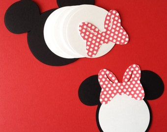 10 Minnie Mouse die cut Invitations