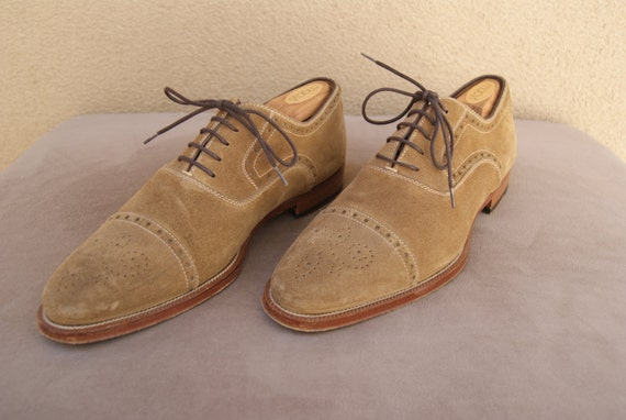 vintage suede s dress shoes by magnanni made in