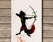 Robin Hood disney watercolor illustrations art children's room wall art art home decor nursery art pixar
