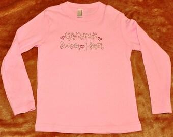 CLEARANCE - Size 4T Grandma's Sweetheart Rhinestone T-shirt - Valentine's Day