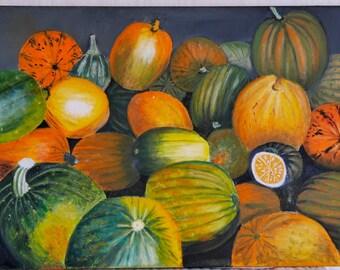 Pumpkin, Oil on Canvas