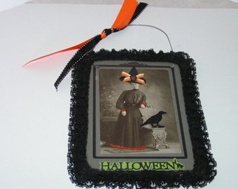 Vintage Cabinet Card Halloween Witch