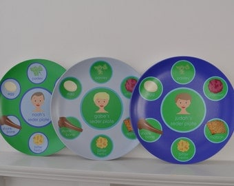 Personalized Kids Passover Seder Plate - English