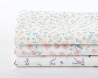 Draw a Flower- Quarter Fabric Pack 3 Fabric 1set - Sets for 3 each 45 X 55 cm