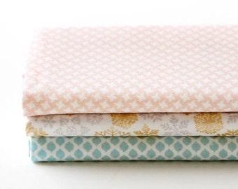 Snowflake - Quarter Fabric Pack 3 Fabric 1 set - Sets for 3 each 45 X 55 cm