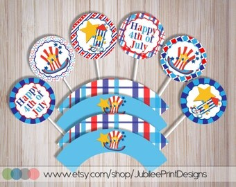Popular items for 4th of july cupcake on Etsy