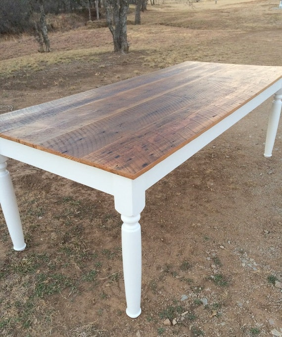 Farm table with reclaimed wood top free shipping for Where to find reclaimed wood for free
